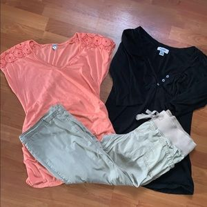 Liz Lange old Navy Maternity too and Capri bundle